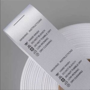 clothing labels polyester
